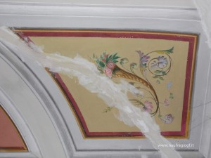 Soffitto decorato a tempera